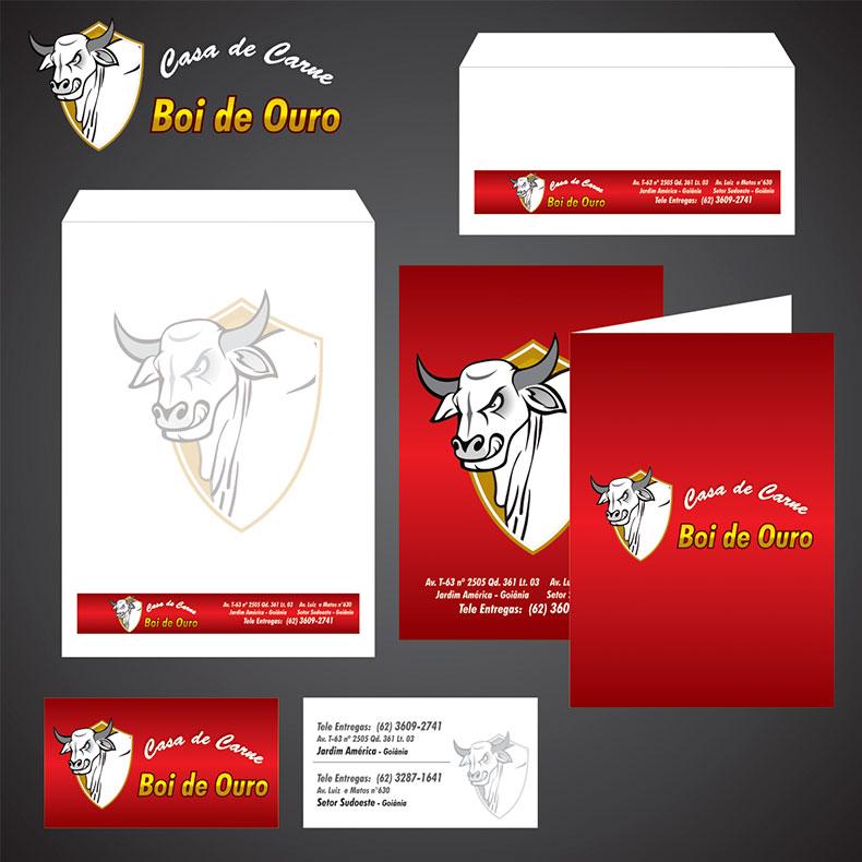 Identidade Visual Casa de Carne Boi de Ouro