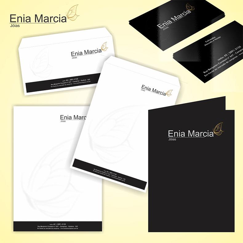 Identidade Visual Enia Marcia Joias