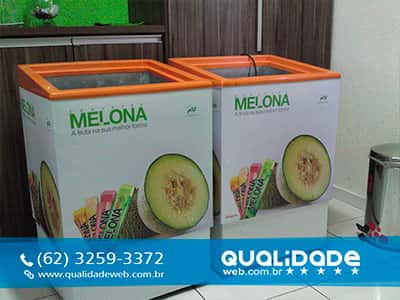 Plotagem de Freezer Sorvetes Melona