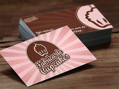 Cartão Fábrica de Cupcakes